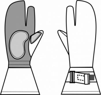 Технический рисунок - Перчатки удлинённые охотничьи