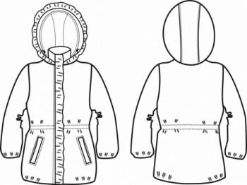 Технический рисунок - Пальто Бабочки
