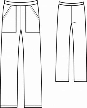 Технический рисунок - Брюки Камуфляж