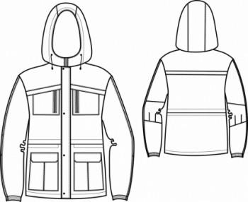 Технический рисунок - Куртка Омега