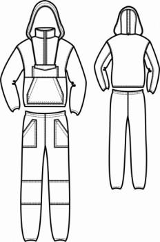Технический рисунок - Костюм Энцефалитка с брюками