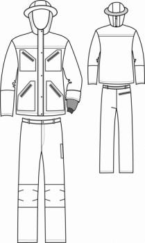 Технический рисунок - Костюм Шляпный мужской