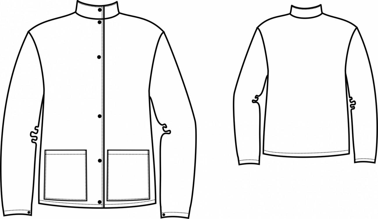 рисунок куртка: